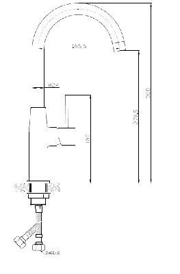 POLLA Dřezová baterie BAP 068D