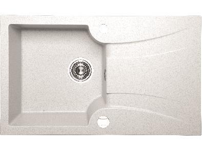 DEVON Granitový dřez SGV 611T - bílá
