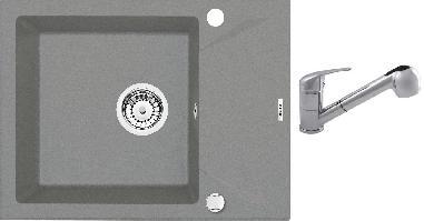 Set Deante EvoraM + Granit 2 - šedá