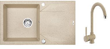 Set Deante Evora + Granit 5 - béžová
